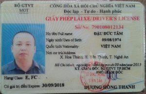 các loại giấy phép lái xe ô tô
