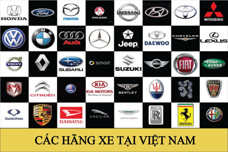 Danh sách các hãng xe hơi tại Việt Nam được ưa chuộng nhất